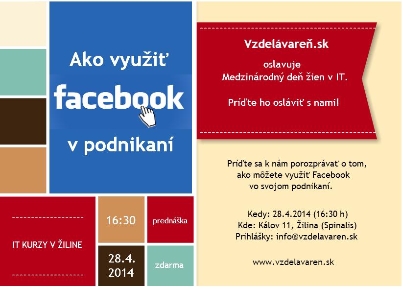 Prednáška Facebook - Vzdelávareň.sk
