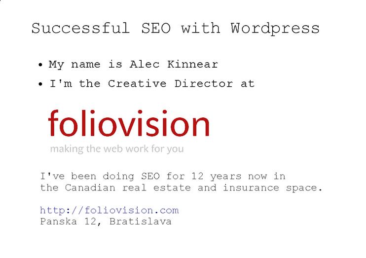 Prezentácia - SEO and WordPress