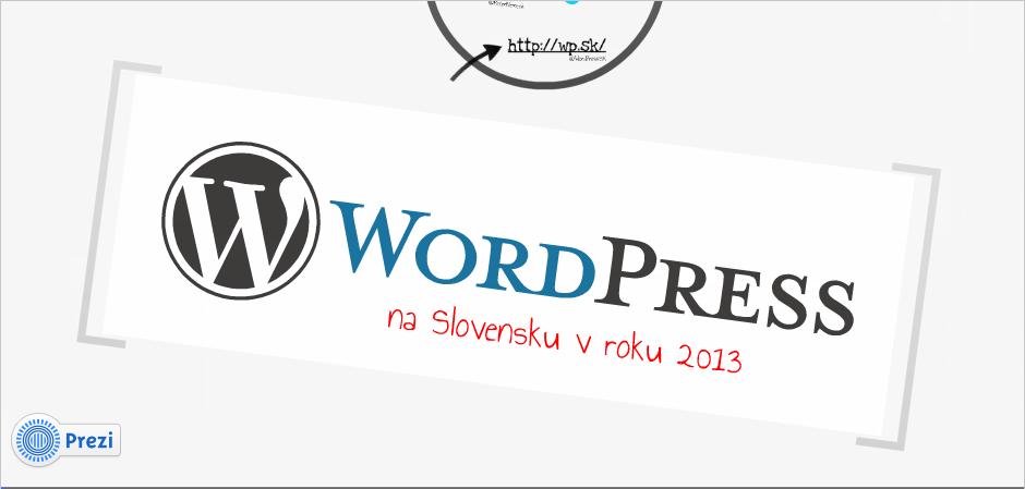 Prezentácia WordPress - jednotka v SR