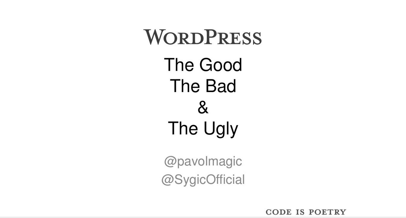 Prezentácia - Good, Bad and Ugly