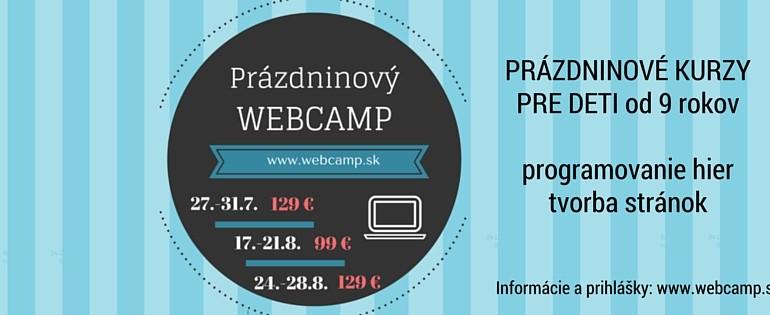 Webcamp - prázdninové kurzy programovania pre deti