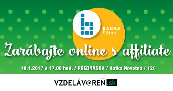 Zarábajte s affiliate - Vzdelávareň.sk